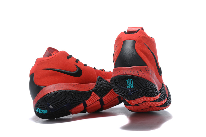 new style 8d52a 61a42 Nike Kyrie 4 Solar Red Black Men's Basketball Shoes NIKE-ST001587