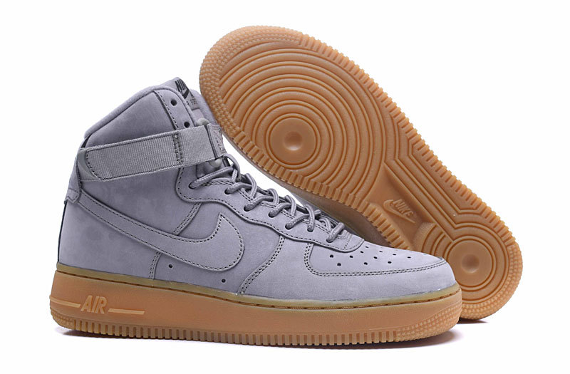regard détaillé 77f98 9da1b Nike Air Force 1 High WB GS Suede Medium Grey Black Gum Light Brown Medium  Men's Women's Running Shoes Sneakers 922066-002