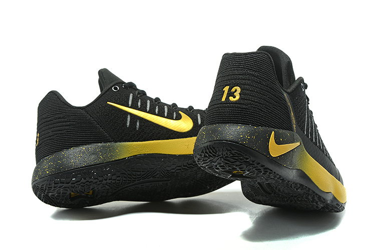 aabaef4643b Nike Paul George Shoe PG 2 Flyknit Black Gold Men s Basketball Shoes ...