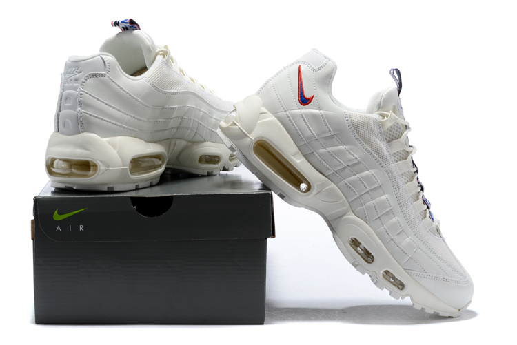 best sneakers 0e57f 2fb84 Nike Air Max 95 TT Sail Gym Red Gym Blue AJ1844 101 Women's Men's Running Shoes  AJ1844-101 | WithTheSale.com