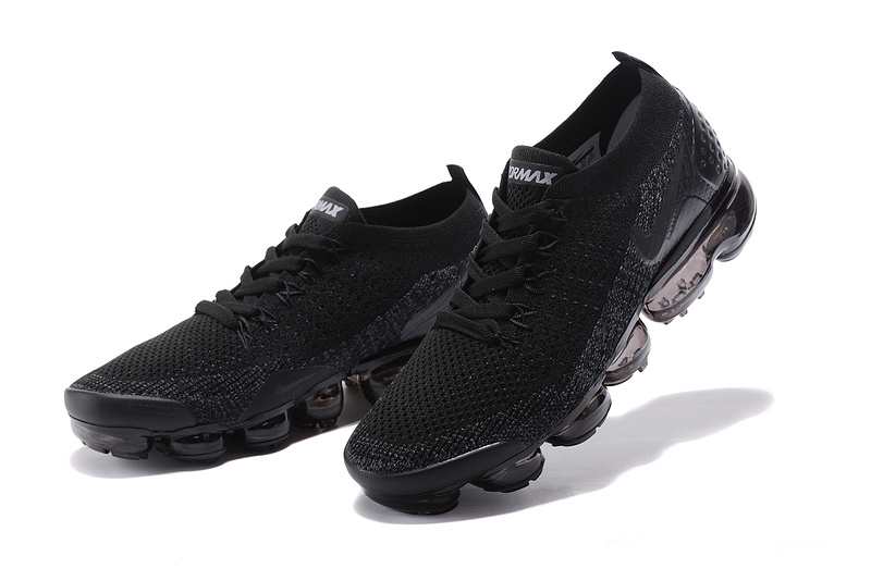best sneakers 76fc4 c83e2 Nike Air VaporMax Flyknit 2 TPU Triple Black Women's Men's Running Shoes  NIKE-ST000578