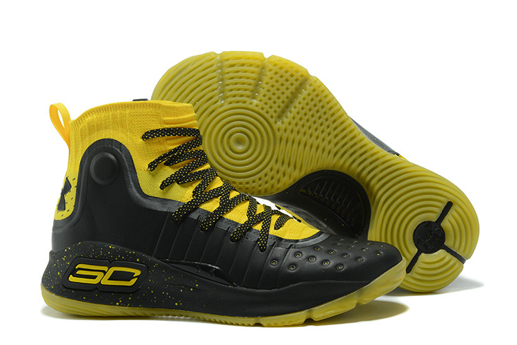 712b768d5b8a coupon code for under armour stephen curry 4 black yellow mens basketball  shoes d67ee f3290