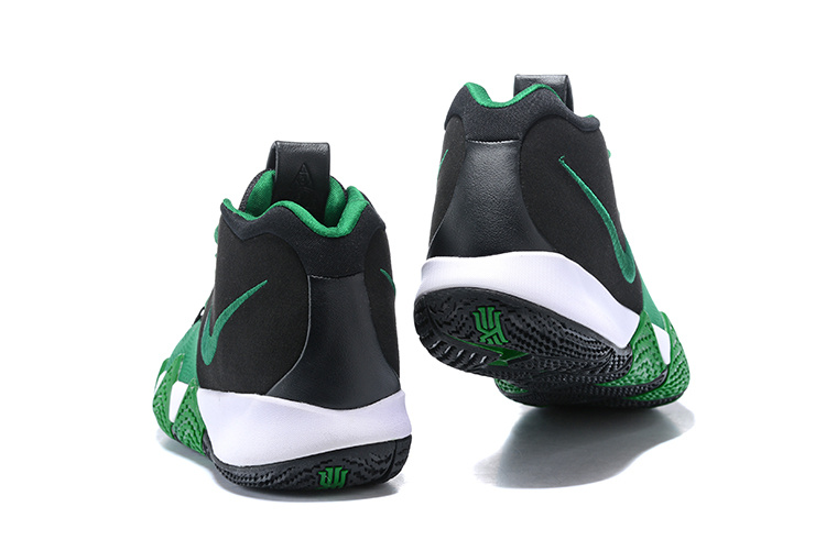 huge discount 745f8 ae638 Nike Kyrie Irving 4 Black Green White Men's Basketball Shoes NIKE-ST001594