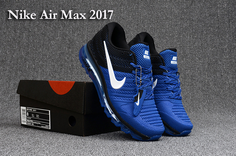 hot sale online 38942 dab54 Nike Air Max 2017 KPU Game Royal Blue Black White Men's Running Shoes  849559-006a
