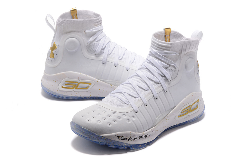 8366f850feef Under Armour Curry 4 White Gold NBA Finals Men s Basketball Shoes ...