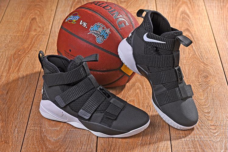 premium selection 00812 970b9 Nike LeBron Soldier 11 XI Black White Men's Basketball Shoes NIKE-ST001675