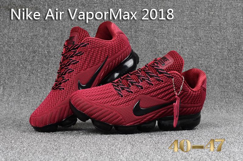 official photos 0c1e6 b02a8 Nike Air Vapor Max 2018 KPU Burgundy Black Men's Running Shoes NIKE-ST000565