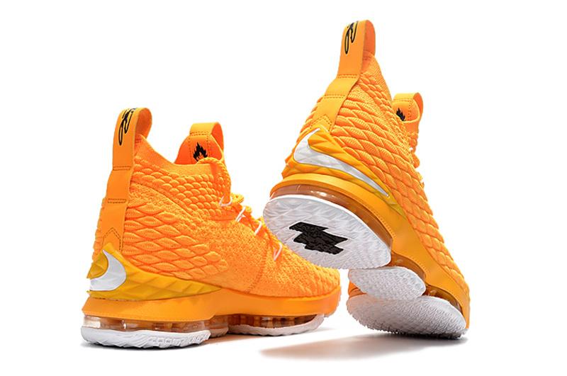 online store e6268 e15c6 ... czech nike lebron 15 yellow white mens basketball shoes 28653 a6311