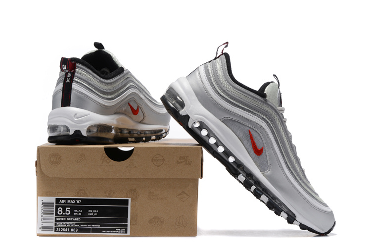 finest selection e5076 a093d Nike Air Max 97 Playstation Silver Grey Red Men's Running Shoes 312641-069