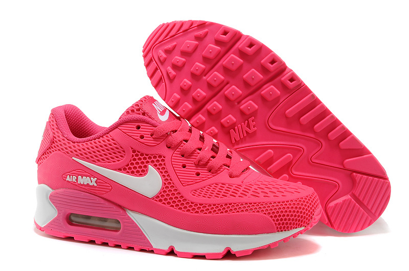 buy popular f0407 a50e5 Nike Air Max 90 KPU Hyper Pink White Women's Running Shoes Sneakers  NIKE-ST000260