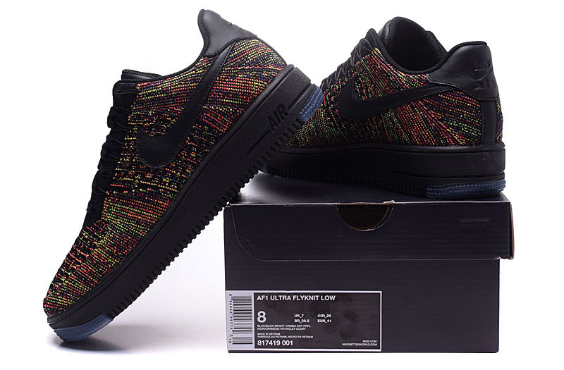 release date: a9bc6 d0068 Nike AF1 Ultra Flyknit Low Black Bright Crimson Court Purple Men's Casual  Shoes Sneakers 817419-001