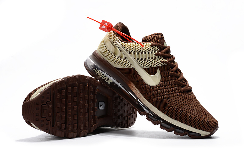 outlet store f8dd6 efdf5 Nike Air Max 2017 Kpu Brown Men s Running Shoes