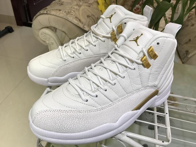 cheaper e2498 79cc2 Nike Air Jordan Retro 12 OVO White Mens Athletic Basketball Shoes 873864-102