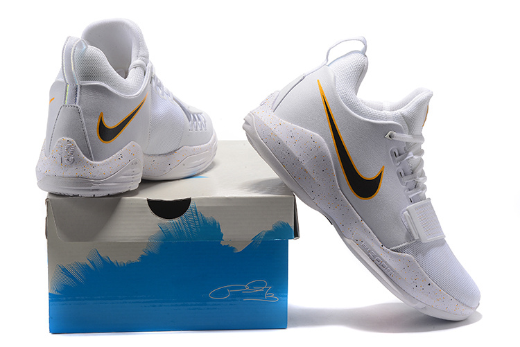 the best attitude a74d0 0cc85 Paul George Nike PG 1 White Black Red Men's Basketball Shoes NIKE-ST000060