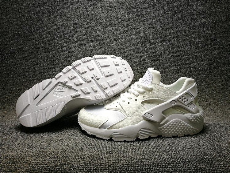 c2d38b0bcf5c1 Nike Wmns Air Huarache Run Triple White Men s Women s Casual Shoes ...