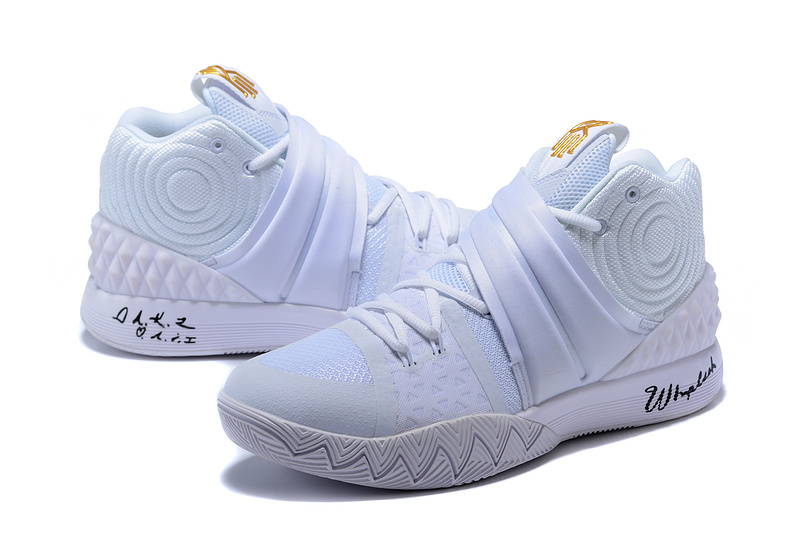 quality design f68fd 6746d Nike Kyrie S1 Hybrid White Gold Mens Basketball Shoes
