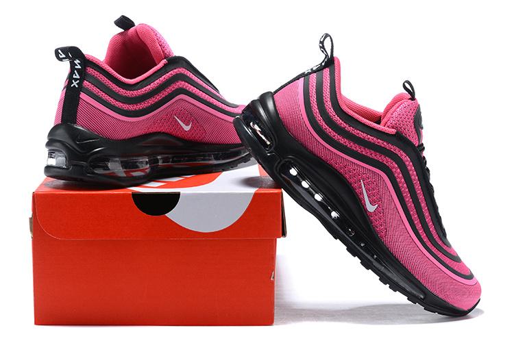 632c82cf51 Nike Air Max 97 Ultra 17 Pink Black White Women's Running Shoes NIKE ...