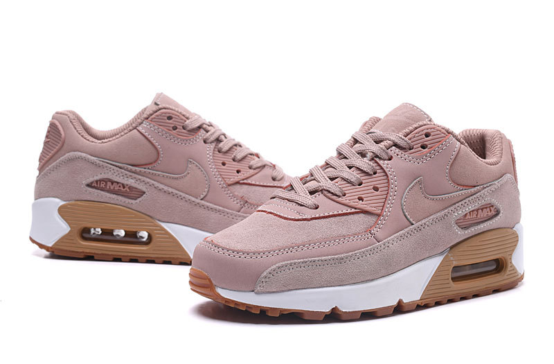 huge selection of 7af4b fabd7 Nike Air Max 90 SE Particle Pink Gum Light Brown White Women's Running  Shoes Sneakers 881105-601