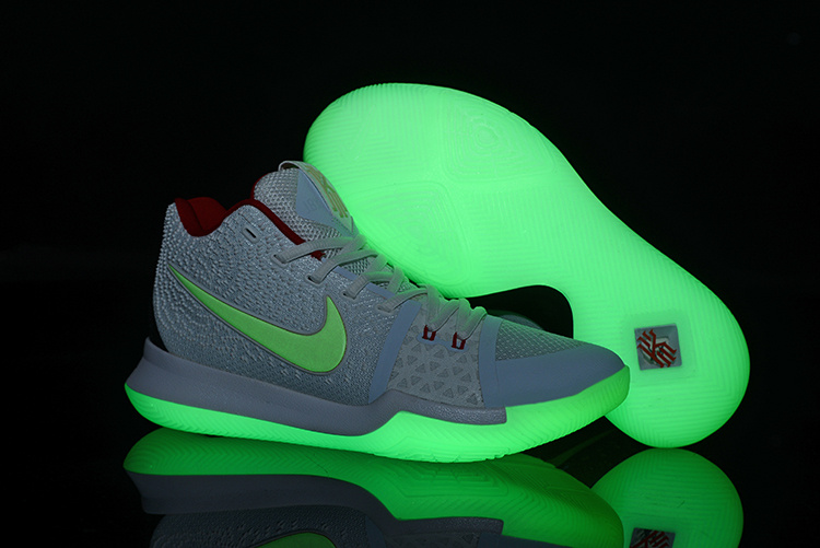 4a6a8285ff77 Nike Kyrie Irving 3 Black White Mandarin Duck Glow In The Dark Men s  Basketball Shoes