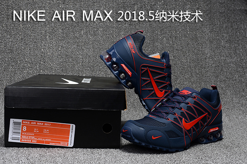 size 40 e0f0b 171d2 Nike Air Max 2018. 5 Shox KPU Navy Blue Red Men's Running Shoes  NIKE-ST000402