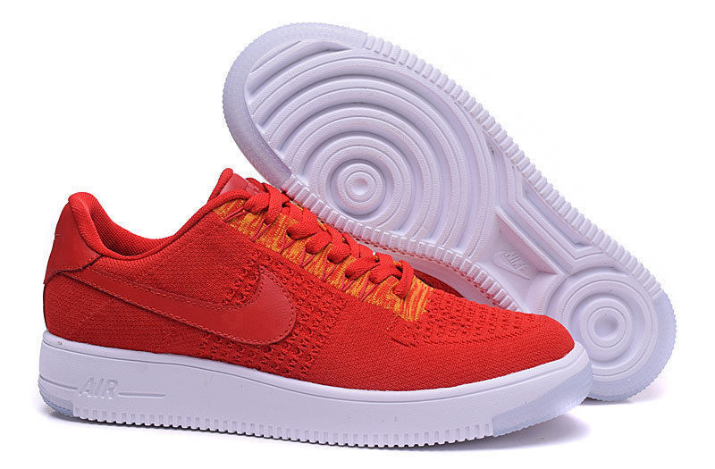 hot sale online 5b8ac 2a091 Nike Air Force 1 Ultra Flyknit Low Red White Women's Men's Casual Shoes  Sneakers NIKE-ST000493