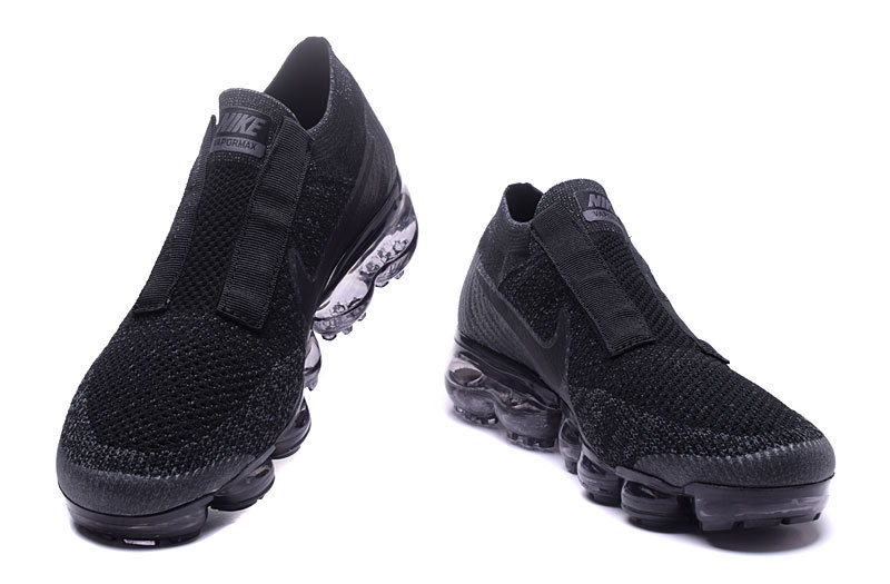 size 40 eb2cf 8f946 Nike Air VaporMax Flyknit COMME des GARCONS Triple Black Grey Men's Running  Shoes 849558-001A