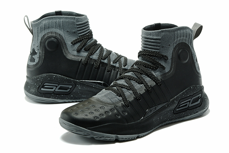 46d7df12fa10 Under Armour Stephen Curry 4 Black Anthracite Gray Men s Basketball Shoes