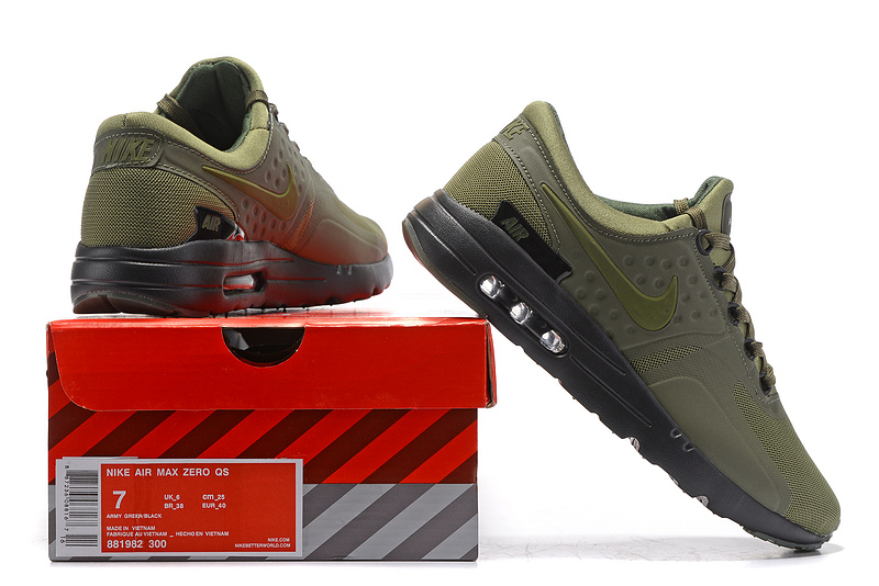 buy popular d42eb b3f8c Nike Air Max Zero Premium Dark Loden Black 881982 300 Women's Men's Running  Shoes Sneakers 881982-300