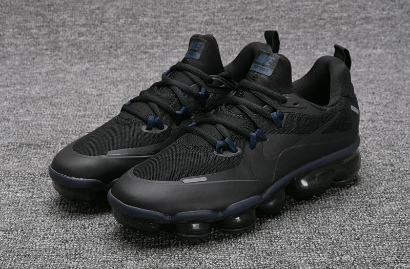 478ba7e9bb Nike Air VaporMax Flyknit Triple Black Women's Men's Running Shoes ...