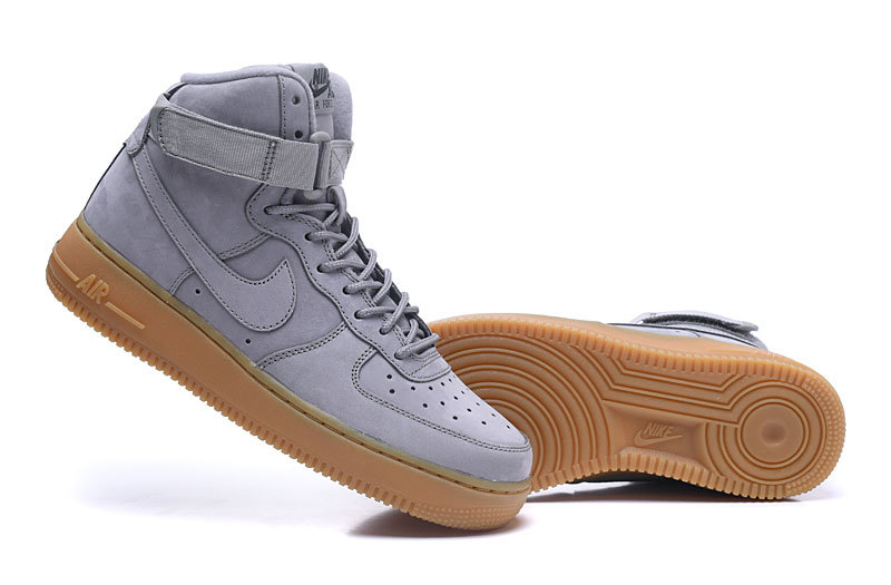 detailed look a2ce2 dacc7 Nike Air Force 1 High WB GS Suede Medium Grey Black Gum Light Brown Medium  Men's Women's Running Shoes Sneakers 922066-002
