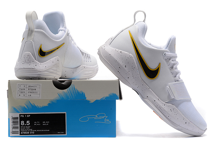 detailed pictures 15f4f b51df Nike Air PG1 Paul George White Black Men s Basketball Shoes