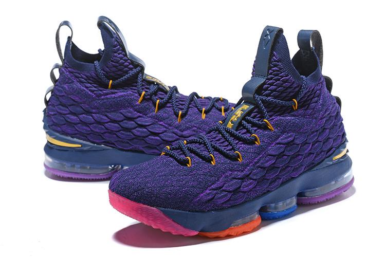 e58894c7a8942 Nike Lebron 15 XV Rainbow Purple Men s Basketball Shoes NIKE ...