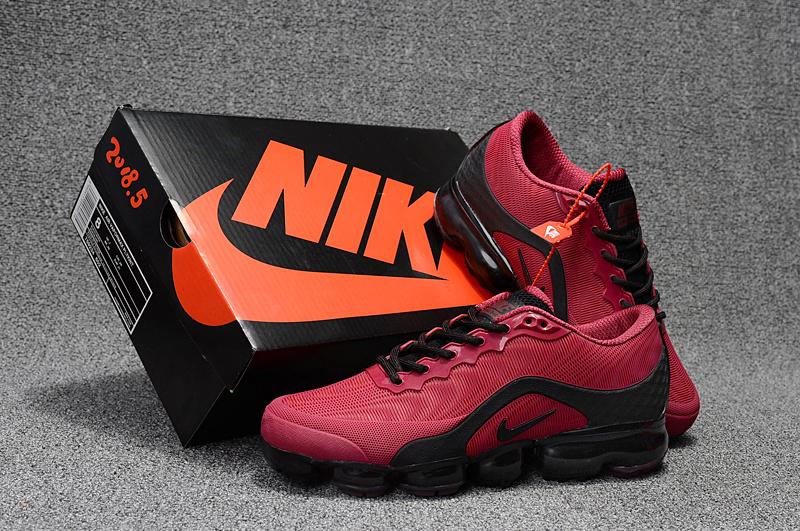 buy online 3eddf 09e80 Nike Air VaporMax Flyknit 2018. 5 Kpu October Red Black Men s ...