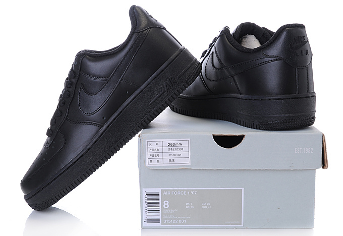 Nike Wmns Air Force 1 07 Low Classic Blackout Women's Men's Casual Shoes Sneakers 315122 001