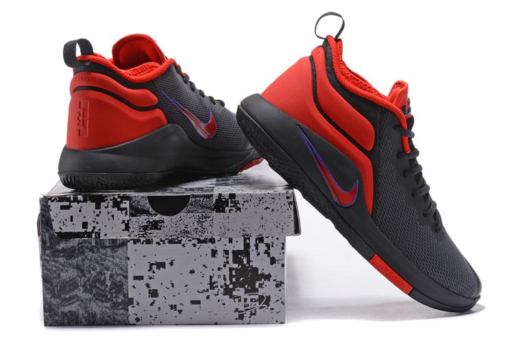 0f00d42d9445b Nike Lebron Witness II EP 2 Black Red Men s Basketball Shoes NIKE ...