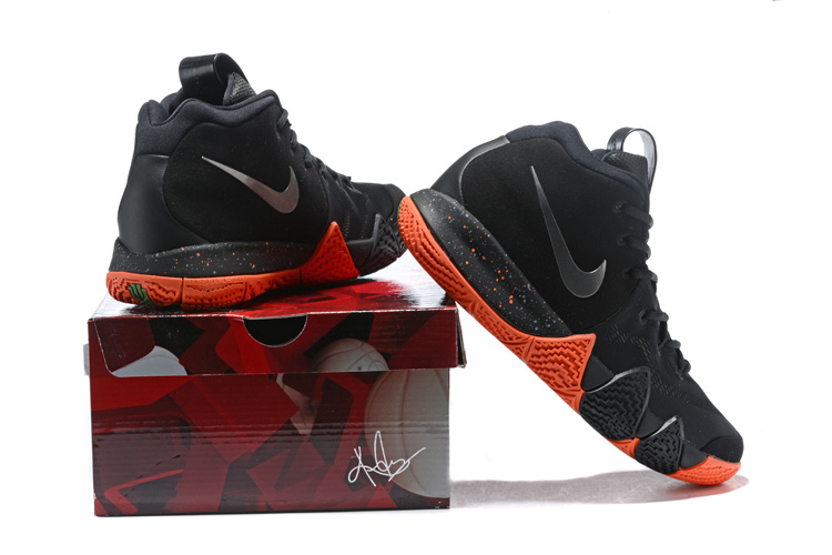 34dd69bfccb Nike Kyrie 4 EP Black Silver Orange Men s Basketball Shoes 943807 ...