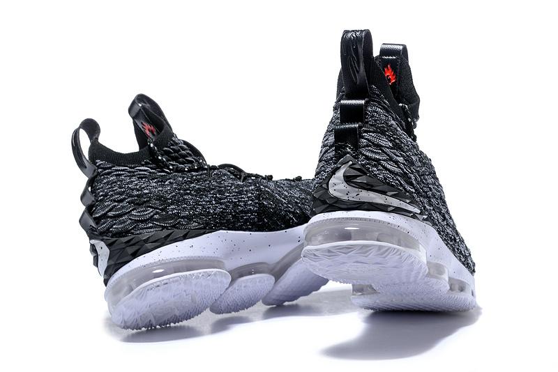 e82a422554a3 Nike Lebron XV 15 EP Ashes Oreo Black White Men s Basketball Shoes ...