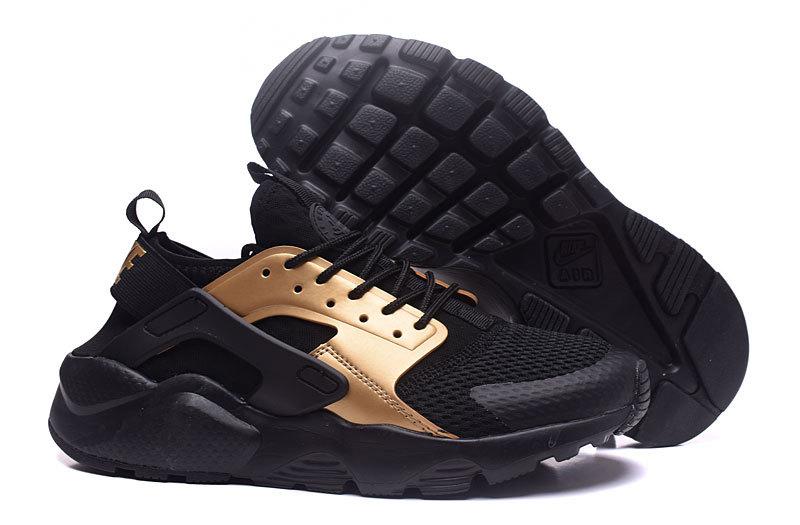 hot sale online 11059 04e93 Nike Air Huarache Ultra Gold Black Men's Casual Shoes NIKE-ST001362 ...
