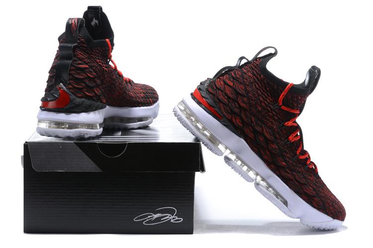 4e56d66e61e Nike Lebron 15 XV Black White Red Men s Basketball Shoes NIKE ...