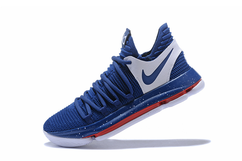 c496934f6ad8 Nike Zoom KD 10 LMTD EP Navy Blue White Red Men s Basketball Shoes ...