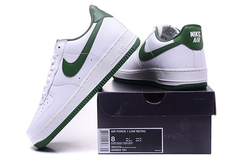 d8e72dba1a941c Nike Air Force 1 Low Retro Summit White Forest Green Men s Running ...