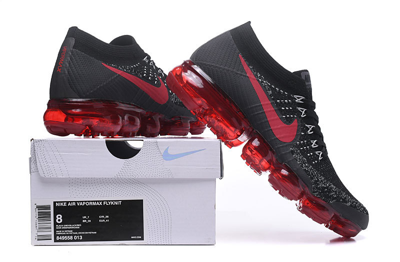 6069844e677e Nike Air VaporMax Flyknit Dark Team Red Dark Red Black Men s Running ...