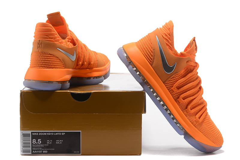 7bfcbbfe33c6 Nike Zoom KD 10 LMTD EP All Star Oorange Silver Men s Basketball ...
