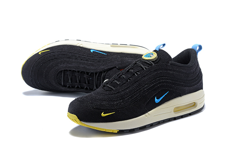 Nike Air Max 971 Sean Wotherspoon Black Blue White Men's Running Shoes NIKE ST001230