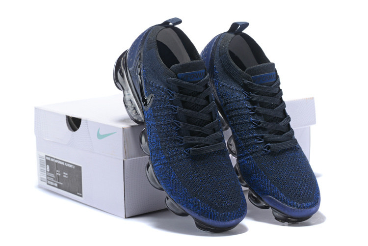 reputable site 2682d b80f6 Nike Air VaporMax Flyknit TPU Navy Blue Black Men's Running Shoes 781024-400