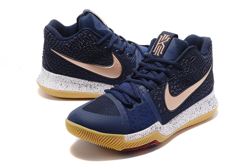 official photos 42622 fce26 Nike Kyrie Irving 3 Navy Blue Copper Men's Basketball Shoes NIKE-ST001506