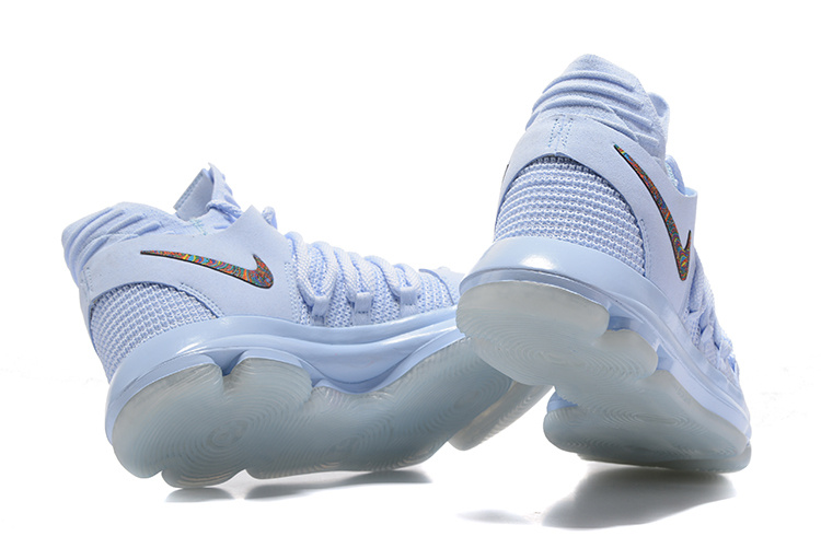 new arrival 7f252 7e37c Nike Zoom KD 10 Limited Aniversary Mid Faint Blue Multi FS Men s Basketball  Shoes