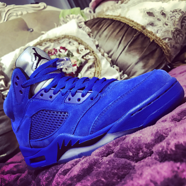 the best attitude c6ee2 48e15 Nike Air Jordan 5 Retro Blue Suede ...