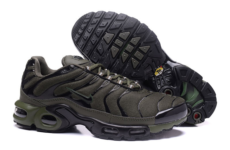 f3f2fc95665 Nike Air Max Plus TXT Olive Green Men s Running Shoes NIKE-ST000945 ...