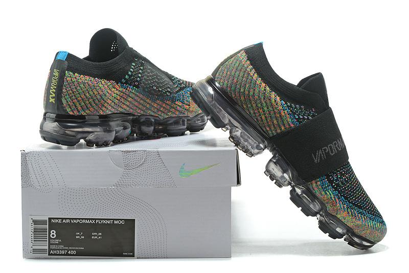 c5d2f743452b Nike Air VaporMax Flyknit Moc Rainbow Black Multicolour AH3397 400 ...
